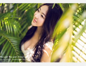 海南三亚 椰林风情婚纱摄影照