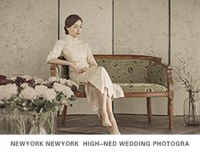 工笔画婚纱摄影照