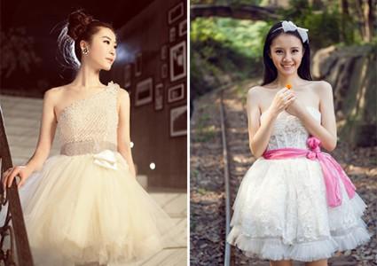 短款婚纱照一样美翻了(1)