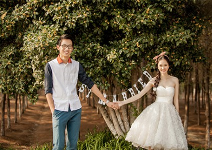 短款婚纱照一样美翻了(2)