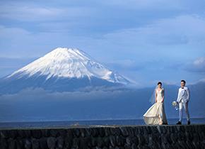 富士山 御滨岬婚纱摄影照