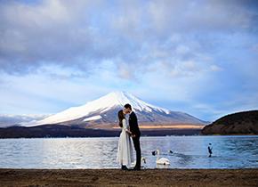 富士山 河口湖婚纱摄影照