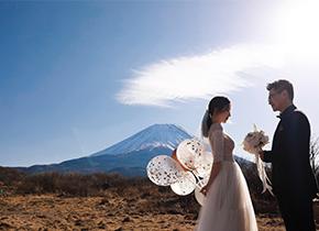 富士山 朝雾高原婚纱摄影照