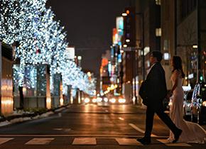 札幌 街景婚纱摄影照