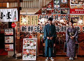 富士山 清水鱼市婚纱摄影照