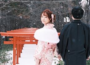 札幌 伏见稻荷神社婚纱摄影照